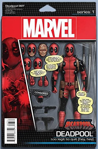 Deadpool #7 John Tyler Christopher Action Figure Variant Comic Book ()