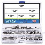 Glarks 150Pcs 304 Stainless Steel Cotter Pin Clip Key Fastner Fitting Assortment Kit