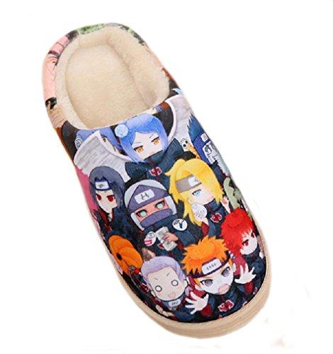Bromeo Naruto Anime Super Suave Zapatillas de estar por casa Felpa Zapatos