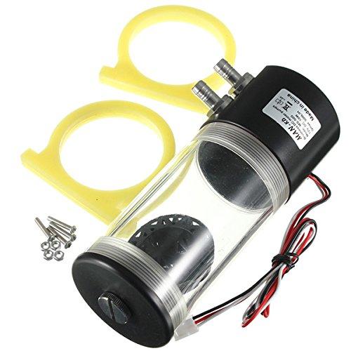 Beho-500L / H DC12V 10W CPU冷却熱交換器ウォーターポンプ円形ポンプタンク高速冷却器 B07BDJS6XH