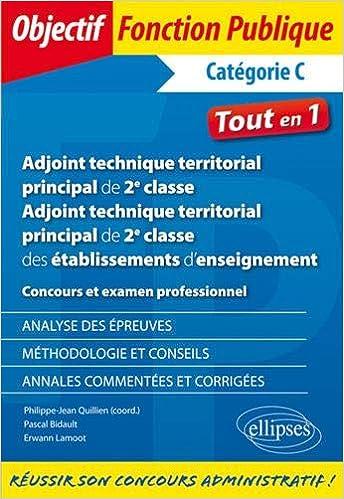 c557322d92d Amazon.fr - Adjoint technique territorial principal de 2e classe ...