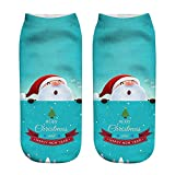 GzxtLTX Socks Cartoon Christmas 3D Pattern Printed Fancy Christmas Gifts