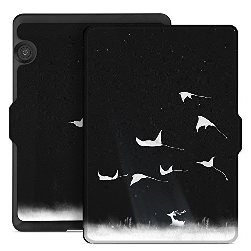 Ayotu Case for Kindle Voyage E-reader Auto Wake and Sleep Smart Protective Cover, Made For 2014 Kindle Voyage Case Painting Series KV-09 The Flying