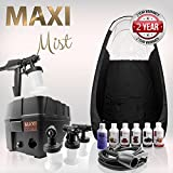 Cheap MaxiMist Pro TNT Spa Quiet Spray Tanning Kit with black Tent & Suntana Sunless Solutions