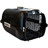 Large Black Cat Carrier - A Large, Secure Cat Carrier In Black With A Bold Tiger Pattern - Great Ventilation - Suitable For Large Breeds