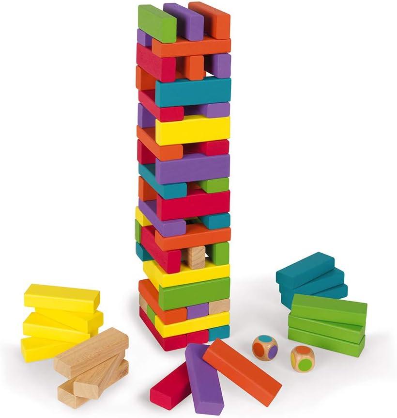 Janod-J02012 Torre De Color Equilibloc, Multicolor (J02012): Amazon.es: Juguetes y juegos