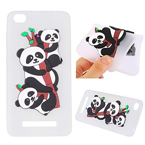 Funda para Xiaomi Redmi 4A , IJIA Puro Rojo Adorable Panda TPU Silicona Suave Cover Tapa Caso Parachoques Carcasa Cubierta Teléfono De Vuelta Shell Case para Xiaomi Redmi 4A (5.0) White