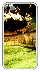 Beautiful scenery rendering TPU Case Cover for iPhone 4 and iPhone 4S White New Year gift