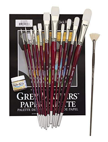 Roger Bansemer RB203 Studio Set of Acrylic Brushes (Jacks Linseed Studio Soap)