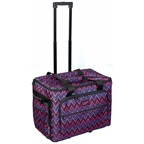 Creative Notions Sewing Machine Trolley in Chevron Print by Creative Notions