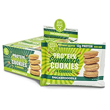 Buff Bake Protein Sandwhich Cookies Box of 8 -1.79oz Snickerdoodle