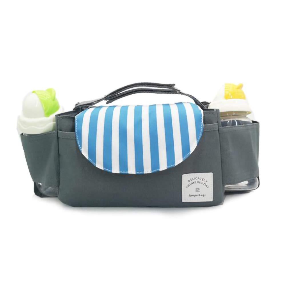HOTEU Buggy Organiser Pram Bag /& Stroller Organiser 2 Cup Holders /& Shoulder Strap Pushchair Organiser Bag