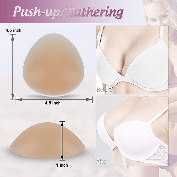 Silicone Bra Inserts Push Up Breast Pads Bra Padding Bust Enhancer