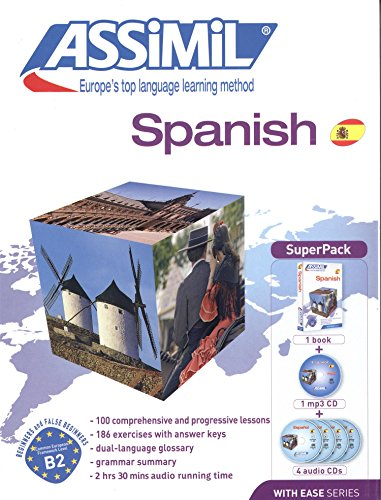 Assimil Spanish with Ease SUPERPACK [ Book + 4 audio CDs + 1 CD mp3 ] (Spanish Edition)