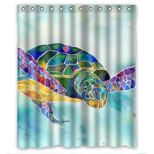 Sea Kitchen Curtains Amazon: Sea Turtle Shower Curtains
