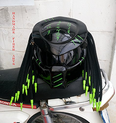 b12eb0857d4cc Amazon.com: Helmet Art Thai HAT 109 Custom Predator Motorcycle ...