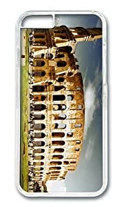 MOKSHOP Adorable Colosseum Hard Case Protective Shell Cell Phone Cover For Apple Iphone 6 Plus (5.5 Inch) - PC Transparent