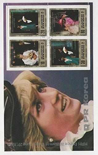 Korea N, Postage Stamp, 2237 Used Sheet, 1982 Princess Diana