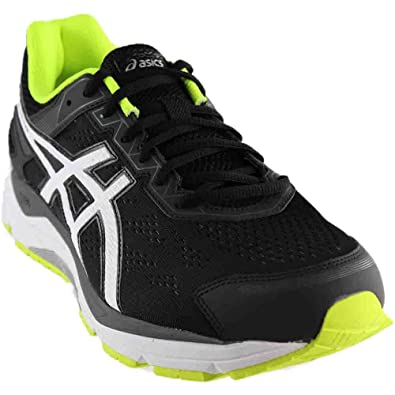 ASICS Men's Gel-Fortitude 7 Black/White/Yellow 7.5 EEEE US