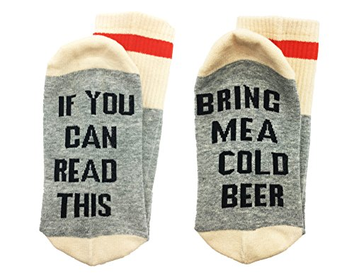 ALNDA Christmas IF You Can Red This PLEASE Bring Me A Glass Of Wine Beer Coffee Unisex Socks