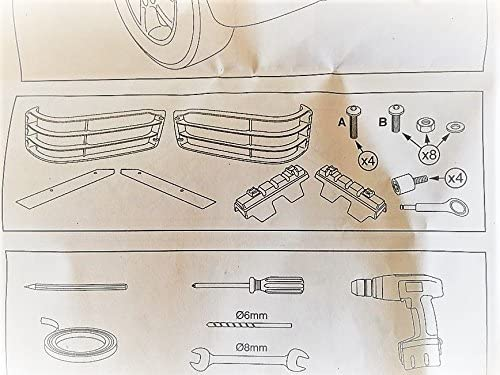 OE PART# STC53193 LAND ROVER DISCOVERY 2 2003-2004 FRONT LIGHTS GUARD SET
