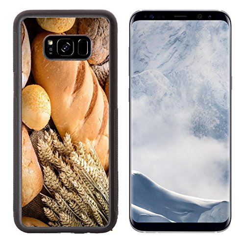Liili Premium Samsung Galaxy S8 Plus Aluminum Backplate Bumper Snap Case wheat on the white background (Golden Wheat Bakery)