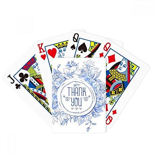 (DIYthinker Blue Flowers Plants Pattern Rose Poker Playing Cards Tabletop Game)