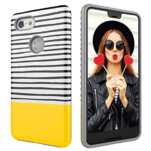 Case for Google Pixel 3 XL,Digital Hutty Dual Layer Shockproof Heavy Duty Protective Cover for Google Pixel 3 XL Yellow