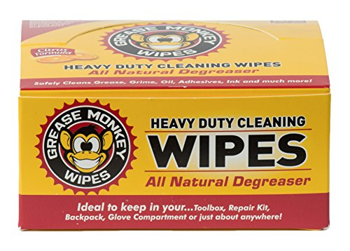 - Grease Monkey Individual Heavy-Duty Cleaning Wipes, 24-Count