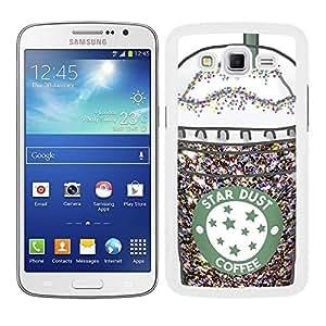 Funda carcasa para Samsung Galaxy Grand 2 diseño ilustración café coffee star dust borde blanco
