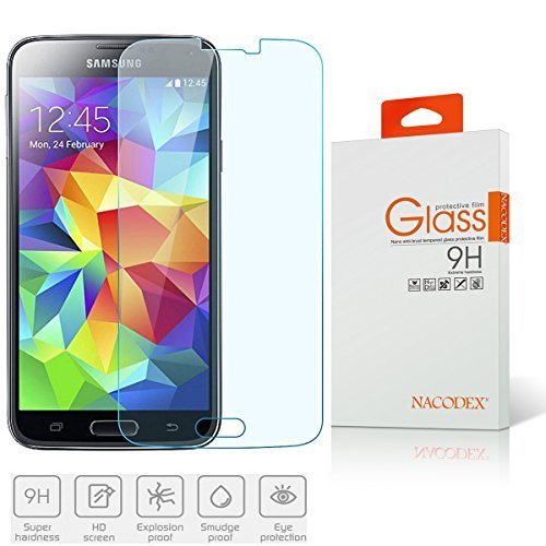 Tempered Glass Screen Protector Guard For Samsung Galaxy S5 SV - 4