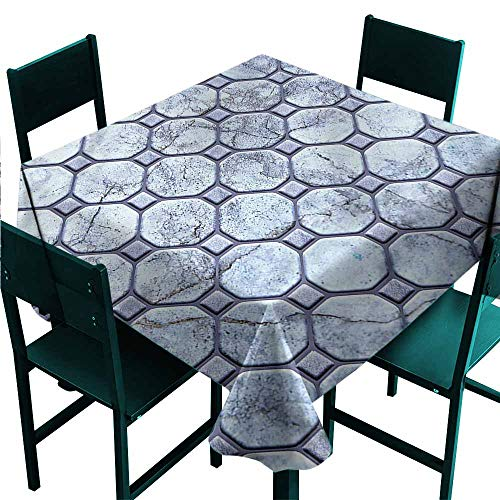 DONEECKL Polyester Tablecloth Marble Retro Marble Mosaic for Kitchen Dinning Tabletop Decoration W50 xL50