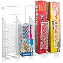 Francois et Mimi Mountable Iron Cabinet Wrap Holder & Organizer