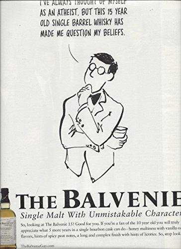 Illustrated 2008 **PRINT AD** For The Balvenie Single Malt Bourbon Atheist