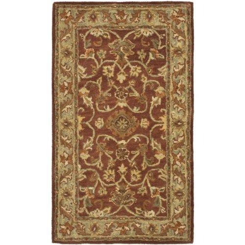 Safavieh Golden Jaipur Collection GJ250E Handmade Rust and Green Premium Wool Area Rug (2