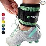 FIGHTECH Ankle Straps by for Cable Machine Workouts with Durable Cuffs for Ab, Leg & Glute Exercises – Premium Fitness Equipment for Women & Men (MINT)