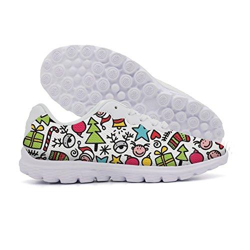 Ddkafjfj Camomilla E Skull Womens Sport Running Sneakers Leggere Scarpe Da Barca Traspiranti Colorful2
