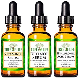 Anti Aging Serum 3-Pack for Face – With Vitamin,Retinol & Hyaluronic Acid