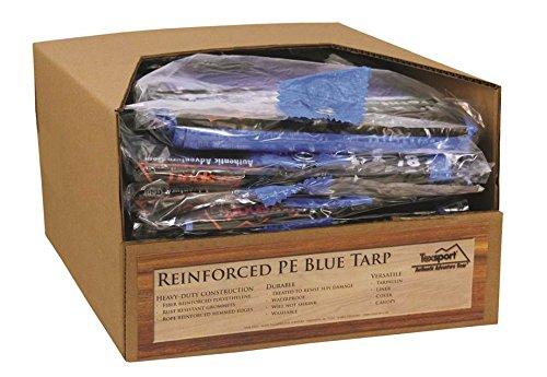 Texsport Heavy-Duty Reinforced Multi-Purpose Waterproof Blue Tarp, 12