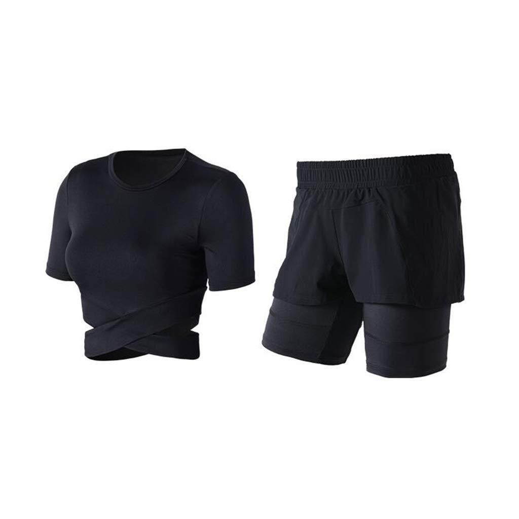 noir XL Yoga VêteHommests De Sport Pilates Costume en Tissu EntraîneHommest Pantalon Occasionnel Costume De Sport