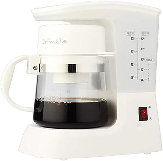 Cafetera americana/goteo automático/máquina de té/cafetera/roja-White: Amazon.es: Hogar