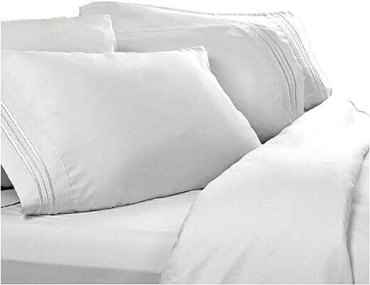 Amazon Com Split Cal King Sheets Split California King White 1800 Thread Count Egyptian Bed Sheet Set Deep Pocket Reg 129 95 Sale 39 95 Home Kitchen