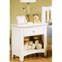 Poundex Night Stand, White