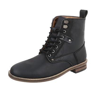 367f6bea0764 Stiefeletten Leder Herrenschuhe Chelsea Boots Blockabsatz Schnürer ...