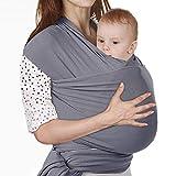 Lictin Fular Portabebés Elástico Gris Portador de Bebé ;Pañuelo de algodón;Unisex;Para padres