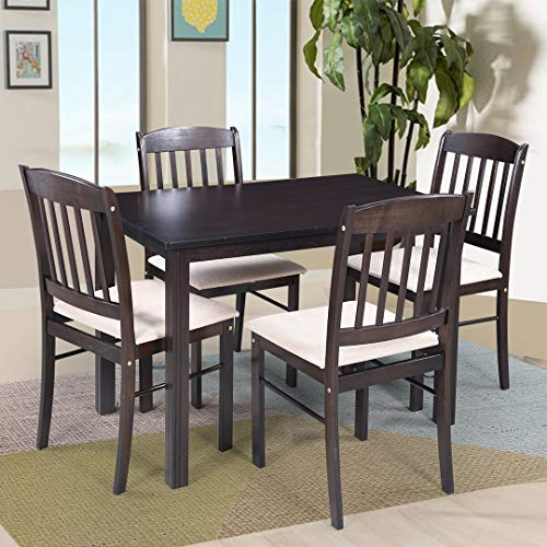 Royaloak Divine 4 Seater Solid Wood Dining Set with Cushioned Chairs