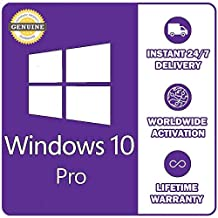 MS Genuien Windows 10 Pro Professional License Key 32/ 64bit Installation Product Code | Download Link | Instan Email Delivery 5 Minute