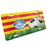 Metal License Plate Soccer Team Flag Menorca region Spain - Neonblond