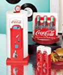 Coca Cola Retro Vintage Style Decorative Red White Black Kitchen Collection Paper Towel Holder Salt N Pepper Shakers Vending Machine and 6 Pack Napkin Holder Countertop Accessories Set Decoration Gift for Memorabilia Collectors