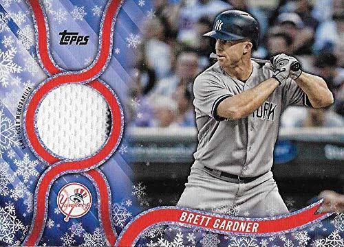 2018 Topps Holiday Relics #R-BG Brett Gardner MEM NM-MT+ New York Yankees Officially Licensed MLB Baseball Trading Card from Holiday
